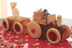 gateau tracteur avec biscuits industriels