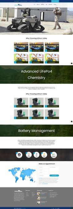 Lithium Valley- Battery Company | Logo Design+ Website Design gráfico Marca Web design