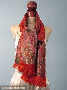 Schiaparelli Woven Silk Scarf, 1930s, Augusta Auctions, October 2006 Vintage Clothing & Textile Auction, Lot 678