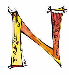 I had fun drawing this Zenspirations monogram 'N' for my new Dangle Design alphabet.