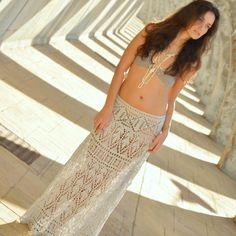 """Esquemas de falda de crochet """"Sirenita"""" Verano 2014"""