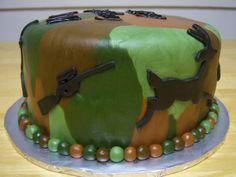 Creative Cakes By Angela Camouflage Hunting Cake Buttercream Cake, Fondant Cakes, Cupcake Cakes, Cupcakes, Hunting Birthday Cakes, Hunting Cakes, Camouflage Cake, Camo Cakes, Fantasy Cake