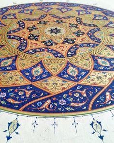 Tezhib by: İsmail Çökük Turkish Design, Turkish Art, Mandala Pattern, Zentangle Patterns, Islamic Calligraphy, Calligraphy Art, Arabesque, Wheel Of Life, Islamic Patterns