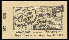 Spook Show Ticket - 1958