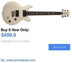 musical instruments: Paul Reed Smith Se Santana Standard Electric Guitar (Antique White) BUY IT NOW ONLY: $499.0 #priceabatemusicalinstruments OR #priceabate