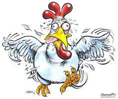 Funny Cartoon Chickens | Chicken Cartoon by Ia... )
