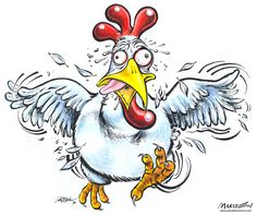 Funny Cartoon Chickens | Chicken Cartoon by Ia... )