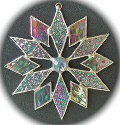 stained glass snowflake - would not be too hard to make