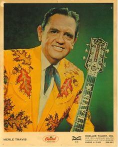 Merle Travis' oak leaf Nudie suit