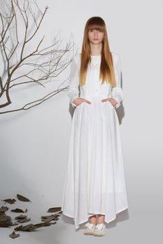 Maxi dress white linen dress woman's long sleeve dress от xiaolizi