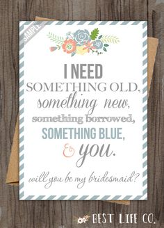 """Set of Will You Be My Bridesmaid """"The Rainier"""" Maid of Honor/Matron of Honor/Flower Girl Files(4 Included) DIY Wedding Custom Something Blue"""