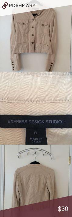 Express Design Studio Cream Blazer, size small So adorable, great condition Express Jackets & Coats Blazers