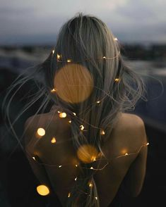 Image discovered by sugar. Find images and videos about girl, photography and hair on We Heart It - the app to get lost in what you love. Fairy Light Photography, Party Photography, Tumblr Photography, Creative Photography, Portrait Photography, Creative Shot, Photography Wallpapers, Photography Music, Travel Photography