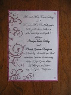 Rich Razzleberry Wedding Invites by Roanne - Cards and Paper Crafts at Splitcoaststampers