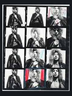 Mick Jagger by David Bailey, contact sheet                                                                                                                                                                                 More