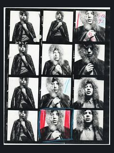 Mick Jagger by David Bailey, contact sheet                                                                                                                                                                                 More