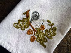 Woodland hand embroidery