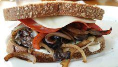 Grilled Portobello sandwich