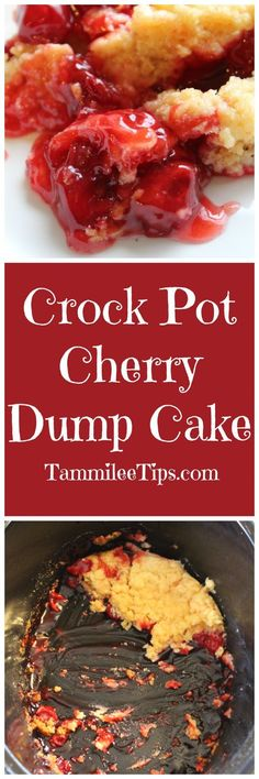 Crock Pot Cherry Dump Cakes Recipe is so easy to make and tastes amazing! Can easily be adapted with chocolate or add in pineapples.