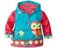 Bonvagon - Çocuk Giyim - Stephen Joseph Kız Çocuk Yağmurluk - Baykuş