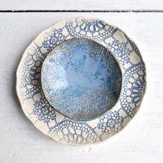 Blue Lace Ceramic bowls