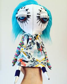 First time using glass eyes for my Dandy dolls. This piece is called Marla. Available for purchase.
