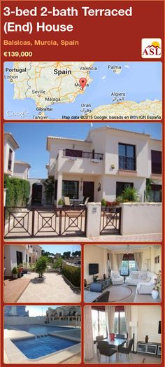 Semi-detached House for Sale in Balsicas, Murcia (Costa Calida), Spain with 3 bedrooms, 2 bathrooms - A Spanish Life Semi Detached, Detached House, Valencia, Portugal, Murcia Spain, Family Bathroom, Seville, Open Plan, Ground Floor