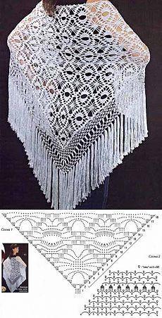 Exceptional Stitches Make a Crochet Hat Ideas. Extraordinary Stitches Make a Crochet Hat Ideas. Crochet Shawl Diagram, Crochet Chart, Crochet Motif, Crochet Lace, Crochet Shawls And Wraps, Crochet Scarves, Crochet Clothes, Crochet Eyes, Crochet Girls