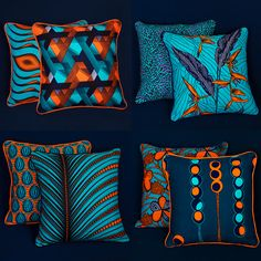 African Style 702561610596205907 - Omg the colours are popping. African homes – beautiful vibrant wax print cushions Source by delooscatherine African Interior Design, African Design, African Style, Ankara, African Accessories, African Home Decor, Printed Cushions, African Fabric, Soft Furnishings