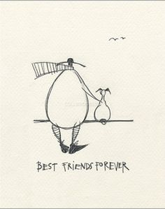 Best Friends Forever by Sam Toft, limited edition print.