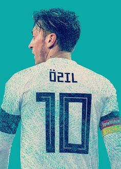 Mesut Ozil poster by from collection. Football Art, Football Players, Ozil Mesut, Kun Aguero, Football Mexicano, Living Legends, Premier League, Vintage Posters, Poster Prints