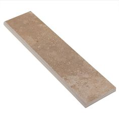 Tarsus Beige Polished Porcelain Bullnose - 3in. x 12in. - 912200611 | Floor and Decor