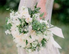 Romantic Garden Wedding Bouquet - 33 Artfully Arranged Most Beautiful Bouquet of Flowers in the World - EverAfterGuide