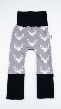 Maxaloones with bucks made by Coton Vanille. Perfect for your months bum baby. Nursery Inspiration, Baby Boy Nurseries, Organic Cotton, Trousers, Sweatpants, Couture, Collection, Black, Fashion