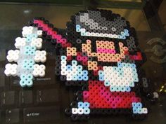 Pocky and Rocky Classic Snes 16-bit pixel art bead by MelParadise