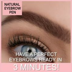 Natural Tattoo Eyebrow Pen Highly comfortable, Natural Tattoo EyeBrow Pen features a micro-fork tip applicator that creates hair-like strokes for brows that last all day. Get the perfect eyebrow daily with in seconds. Natural Eyebrows, Natural Eyes, Natural Eye Makeup, Fix Eyebrows, Thicker Eyebrows, Makeup Eyebrows, Makeup Eyeshadow, Beauty Makeup, Makeup Tips
