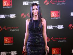 """ScreenSingapore 2013 red carpet world premiere of """"Firestorm"""" at Resorts World Theatre, Sentosa, Singapore on 4 December 2013. Actress Celina Jade from the hit CW Network American TV series """"Arrow""""."""