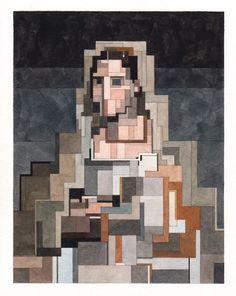Adam Lister '8 Bit' Watercolor Paintings