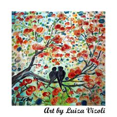 I'm in the mood for love Etsy listing at https://www.etsy.com/listing/172130340/original-abstract-painting-birds-romance