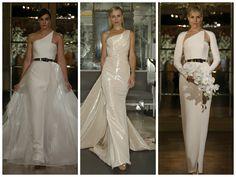 Structured one shoulder wedding dress