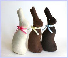 Chocolate Easter Bunny - Yummy Felt Food Decoration - Eco FriendlyToy Rabbit. $8.00, via Etsy.