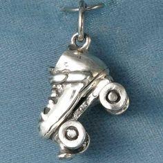 3D Roller Skate Sterling Silver Pendant. $40.00, via Etsy.