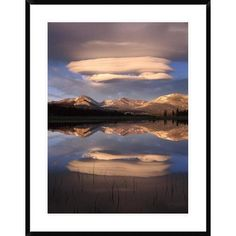 Global Gallery Lenticular Clouds over Mt Dana, Mt Gibbs and Mammoth Peak Reflected in Flooded Tuolumne Meadows, Yosemite National Park, California ...
