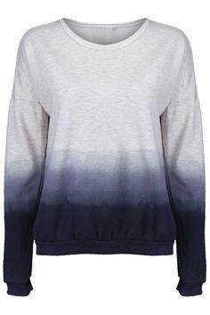 Gradient Color Blue-grey Pullover