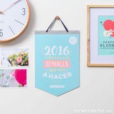 Calendario de pared - 2016 y todas aquellas cosas geniales que voy a hacer