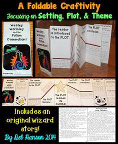 A Fun Plot Foldable Activity- features an original wizard story