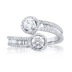 Mira Style diamond bypass ring.. looks similar to my wedding ring.