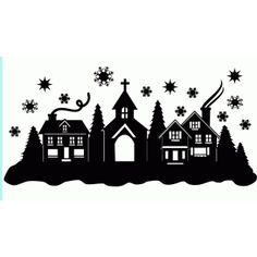 Welcome to the Silhouette Design Store, your source for craft machine cut files, fonts, SVGs, and other digital content for use with the Silhouette CAMEO® and other electronic cutting machines. Christmas Town, Noel Christmas, Christmas Images, Xmas, House Silhouette, Silhouette Design, Silhouette Projects, Silhouette Cameo Weihnachten, Silhouette Cameo Christmas