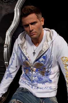 Lord of Honor Men Hoodie Glam Rock Clothing White Long Sleeve Urban Wear Rock n Roll Rock Outfits, Edgy Outfits, Unique Hoodies, Sleeveless Hoodie, Glam Rock, White Long Sleeve, Stylish Men, V Neck T Shirt