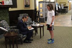 Chris Grabenstein signs Escape from Mr. Lemoncello's Library